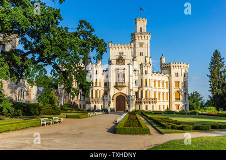 Hluboka nad Vltavou Castle in Czech Republic - Stock Photo