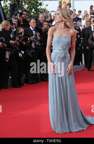 Rosie Huntington-Whiteley arrives on the red carpet before the screening of the film 'The Search' during the 67th annual Cannes International Film Festival in Cannes, France on May 21, 2014.  UPI/David Silpa - Stock Photo