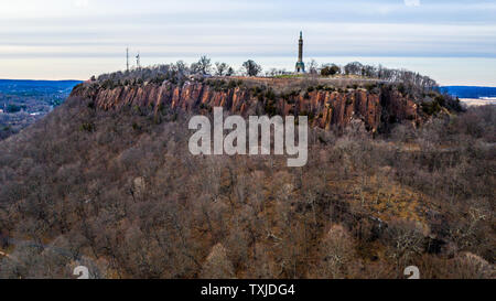 Soldiers and Sailors Monument, East Rock Park, New Haven, CT, USA - Stock Photo