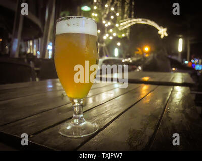 Craft Beer, Beer in a room with low light for Tasting - Stock Photo