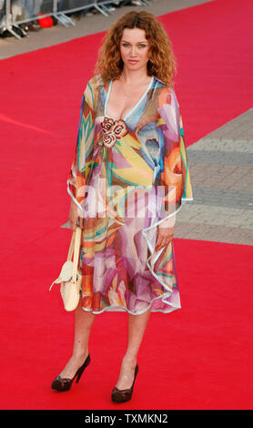 French actress Marine Delterme arrives on the red carpet before a screening of the film 'The Bourne Ultimatum' at the 33rd American Film Festival of Deauville in Deauville, France on September 1, 2007.  (UPI Photo/David Silpa)
