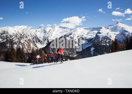 Austria Tyrol Couple Snowshoeing Stock Photo 209598866 Alamy