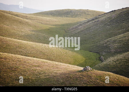 Winding valley path, Tehachapi, California, United States - Stock Photo