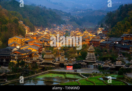Guizhou Zhaoxing Dong Zhai Scenery - Stock Photo