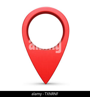 Internet location pin symbol isolated on white background - Stock Photo