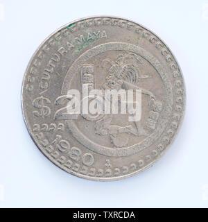 Mexico 20 Pesos Coin - 1980 - Stock Photo