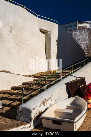 Burgau fishing village, Algarve, Portugal - Stock Photo