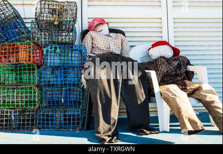 Portuguese fishermen's humour - Stock Photo