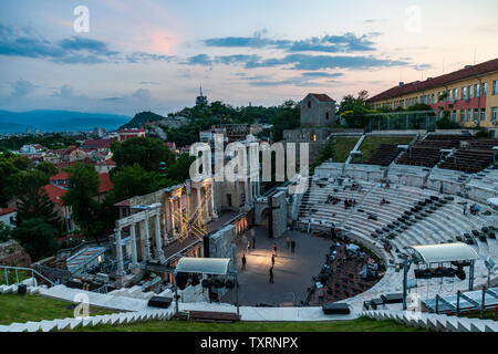 The Roman theatre of Plovdiv Ancient Theater of Philippopolis - Stock Photo
