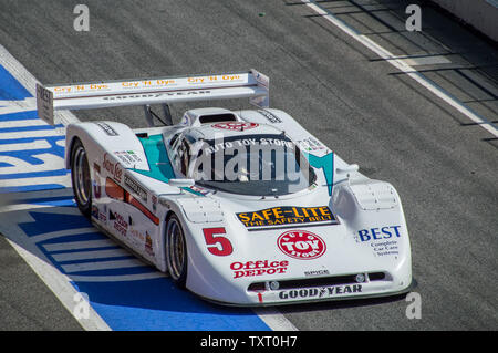 PORSCHE 962 in Circuit de Barcelona, Catalonia, Spain - Stock Photo