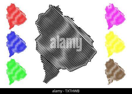 Raymah Governorate (Governorates of Yemen, Republic of Yemen) map vector illustration, scribble sketch Raymah map - Stock Photo