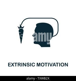 Extrinsic Motivation vector icon illustration. Creative sign from gamification icons collection. Filled flat Extrinsic Motivation icon for computer an - Stock Photo