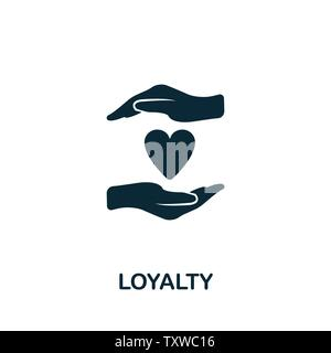 Loyalty vector icon symbol. Creative sign from gamification icons collection. Filled flat Loyalty icon for computer and mobile - Stock Photo