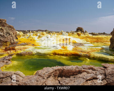 Dallol vulcano Danakil Dessert Etopia - Stock Photo