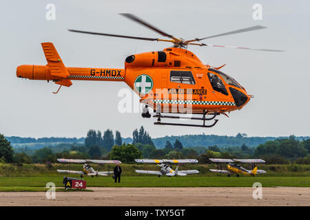Air Ambulance Helicopter - McDonnell Douglas MD902 Air Ambulance Helicopter formerly used by MAGPAS in the UK - Stock Photo