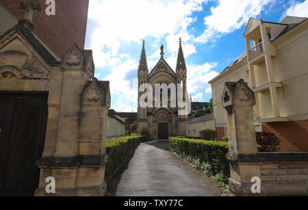 Neo Gothic Chapel of Saint-Joseph in Beauvais, France - Stock Photo