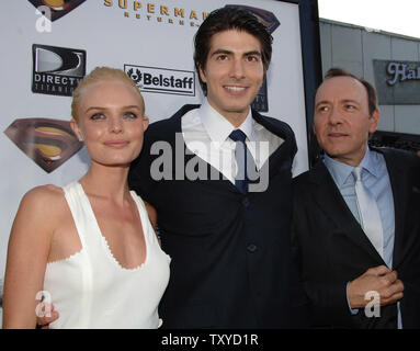Kate Bosworth Brandon Routh And Kevin Spacey L R Cast Members