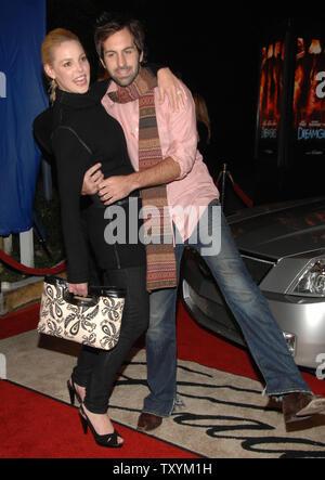 Actress Katherine Heigl (L) and singer Josh Kelley arrive as