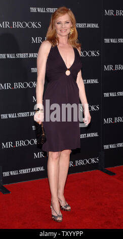 Marg Helgenberger, a cast member in the motion picture crime thriller 'Mr. Brooks', arrives for the premiere of the film at Grauman's Chinese Theatre in the Hollywood section of Los Angeles on May 22, 2007.  (UPI Photo/Jim Ruymen) - Stock Photo