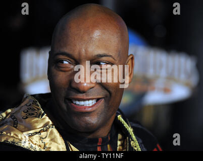 Director John Singleton attends the premiere of the motion picture crime thriller 'Fast & Furious' in Los Angeles on March 12, 2009. (UPI Photo/Jim Ruymen) - Stock Photo