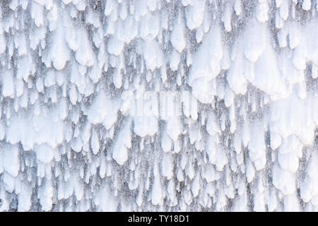 Wind-blown snow patterns, late winter snow storm, Eastern North America, by Dominique Braud/Dembinsky Photo Assoc - Stock Photo