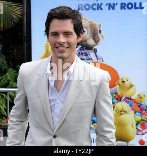 Actor James Marsden, the voice of Fred in the animated motion picture comedy 'Hop', arrives at the premiere of film at Universal Studios in Universal City, California on March 27, 2011.   UPI/Jim Ruymen - Stock Photo
