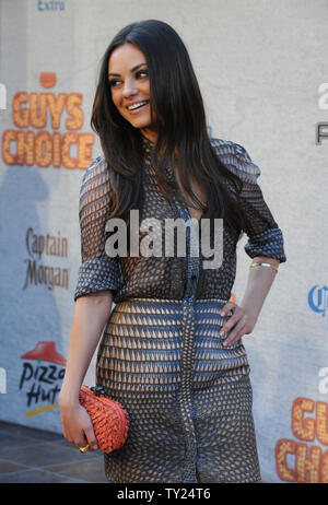 Actress Mila Kunis arrives for Spike TV's 5th annual 2011 'Guys Choice' Awards at Sony Pictures Studios in Culver City, California on June 4, 2011.  UPI/Jim Ruymen - Stock Photo