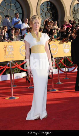 Actress Gretchen Mol arrives at the 18th annual Screen Actors Guild Awards in Los Angeles on January 29, 2012.   UPI/Jim Ruymen - Stock Photo