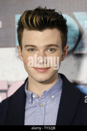 Actor Chris Colfer attends the Fox All-Star Party in Los Angeles on July 23, 2012.  UPI/Danny Moloshok - Stock Photo