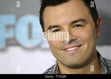 Seth MacFarlane attends the Fox All-Star Party in Los Angeles on July 23, 2012.  UPI/Danny Moloshok - Stock Photo