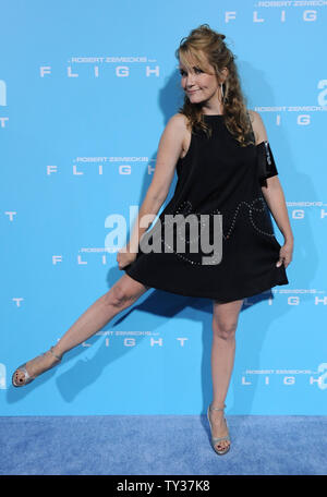 Actress Lea Thompson attends the premiere of the motion picture drama 'Flight', at the Arclight Cinerama Dome in the Hollywood section of Los Angeles on October 23, 2012.  UPI/Jim Ruymen - Stock Photo