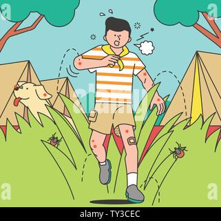 illustration of attention to health and safety when the seasons change 021 - Stock Photo