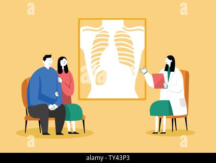 Medical check-up, health care concept vector illustration 002 - Stock Photo