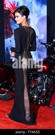 Cast member Jaimie Alexander attends the premiere of the motion picture fantasy  'Thor: The Dark World' at the El Capitan Theatre in the Hollywood section of Los Angeles on November 4, 2013. Storyline: Faced with an enemy that even Odin and Asgard cannot withstand, Thor (Chris Hemsworth) must embark on his most perilous and personal journey yet, one that will reunite him with Jane Foster (Natalie Portman) and force him to sacrifice everything to save us all.  UPI/Jim Ruymen - Stock Photo