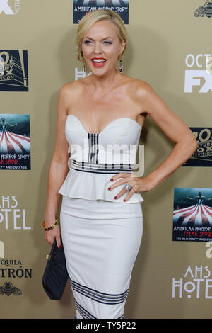 Actress Elaine Hendrix attends the premiere screening of FX's 'American Horror Story: Hotel' at Regal Cinemas L.A. Live in Los Angeles on October 3, 2015. Storyline: Both physical and psychological horrors affect a decomposing family, workers and residents of an insane asylum, a coven of witches, and a cast of circus freaks in this anthology series, focusing on the themes of infidelity, sanity, oppression, and discrimination.  Photo by Jim Ruymen/UPI - Stock Photo
