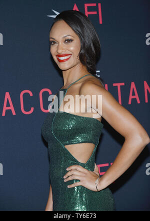 Cynthia Addai-Robinson arrives at the world premiere of 'The Accountant' at the TCL Chinese Theater in Los Angeles, California on October 10, 2016. Photo by Christine Chew/UPI - Stock Photo