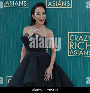 Cast member Fiona Xie attends the premiere of the motion