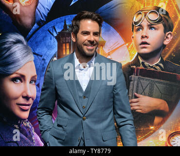 Director Eli Roth attends the premiere of the sci-fi motion picture comedy and thriller 'The House with a Clock in Its Walls' at the TCL Chinese Theatre in the Hollywood section of Los Angeles on September 16, 2018. The film tells the story of a young orphan named Lewis Barnavelt (Jack Black), who aids his magical uncle in locating a clock with the power to bring about the end of the world.  Photo by Jim Ruymen/UPI - Stock Photo