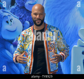 Cast member Common, the voice of Stonekeeper in the animated comedy 'Smallfoott' attends the premiere of the film at the Regency Village Theatre in the Westwood section of Los Angeles on September 22, 2018. The film tells the story of a yeti named Migo who is convinced that a human known only as 'Small Foot' is real and has to prove to his tribe that it does exist with the help of Meechee and the S.E.S - Smallfoot Evidentiary Society.  Photo by Jim Ruymen/UPI - Stock Photo