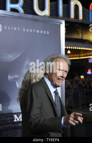 Director and cast member Clint Eastwood attends the premiere of the motion picture crime thriller 'The Mule' at the Regency Village Theatre in the Westwood section of Los Angeles on December 10, 2018. The film tells the true story of a 90-year-old horticulturist and WWII veteran who is caught transporting $3 million worth of cocaine through Michigan for a Mexican drug cartel.  Photo by John McCoy/UPI