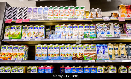 There's No Shortage Of Milk Alternatives plant Milks Have Grown by 30 percent Since 2015 Helped By Vegetarian and Vegan Diets In 2017 Alpro Had A Turn - Stock Photo