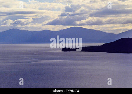 New Zealand, North Island. Lake Taupo, in the caldera of the Taupo Volcano. Photo: © Simon Grosset. Archive: Image digitised from an original transpar - Stock Photo