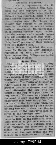 Newspaper clippings regarding the Roselle trial; Scope and content:  This document is part of a file pertaining to a case concerned with the bootlegging activities of Clay Roselle, a resident of Idaho Falls, Idaho. - Stock Photo