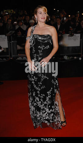 British actress Kate Winslet attends The Times BFI London Film Festival: 'Little Children' at Odeon West End, Leicester Square in London on October 25, 2006.  (UPI Photo/Rune Hellestad) - Stock Photo