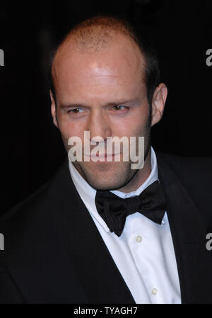 British actor Jason Statham attends the world premiere of 'Casino Royale' at Odeon, Leicester Square in London on November 14, 2006.  (UPI Photo/Rune Hellestad) - Stock Photo