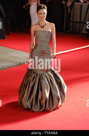 British actress Thandie Newton attends 'The Orange British Academy Film Awards' at The Royal Opera House in London on February 11, 2007.  (UPI Photo/Rune Hellestad) - Stock Photo