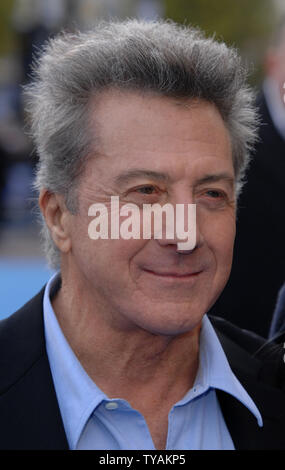 American actor Dustin Hoffman attends the premiere of 'Mr. Magorium's Wonder Emporium' at Empire, Leicester Square in London on November 25, 2007.  (UPI Photo/Rune Hellestad) - Stock Photo
