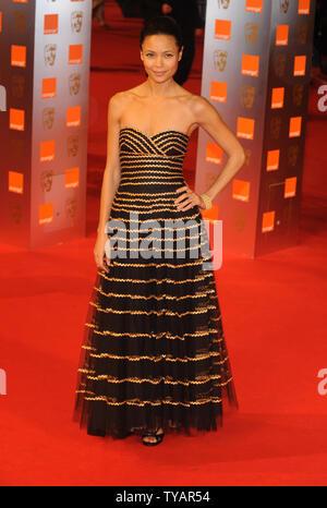 British actress Thandie Newton attends the 'Orange British Academy Film Awards' at the Royal Opera House in London on February 8, 2009.  (UPI Photo/Rune Hellestad) - Stock Photo