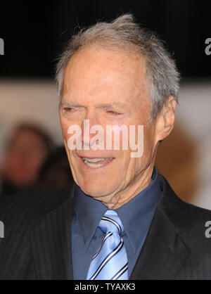 American actor/director Clint Eastwood attends the premiere of 'Invictus' at Odeon West End, Leicester Square in London on January 31, 2010.     UPI/Rune Hellestad - Stock Photo