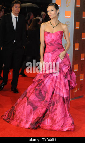 British actress Thandie Newton attends the 'Orange British Academy Film Awards' at the Royal Opera House in London on February 13, 2011.     UPI/Rune Hellestad - Stock Photo